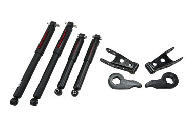 "1988-1998 GMC K1500 (4wd) 2/2"" Lowering Kit w/ Nitro Drop 2 Shocks - Belltech 729ND"