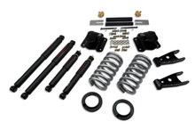 "1994-1999 Dodge Ram 1500 Extended Cab 4/4"" Lowering Kit w/ Nitro Drop 2 Shocks - Belltech 819ND"