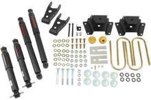 "1997-2003 Ford F150 Harley Edition (2WD) 2/3"" Lowering Kit w/ Nitro Drop 2 Shocks - Belltech 923ND"