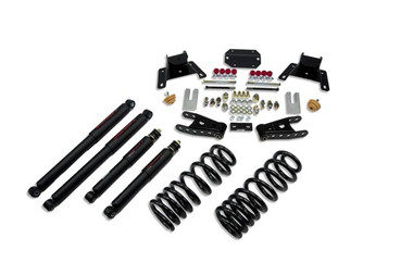 """1987-1996 Ford F150 Extended Cab (2WD) 2/4"""" Lowering Kit w/ Nitro Drop 2 Shocks - Belltech 926ND"""