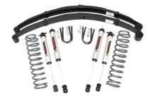 "1984-2001 Jeep Cherokee XJ 2WD/4WD 3"" Lift Kit w/ V2 Shocks & U-Bolts - Rough Country 63070"