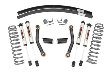 """1984-2001 Jeep Cherokee XJ 2WD/4WD 3"""" Stage II Lift Kit - Rough Country 670X70"""