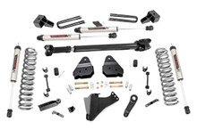 """2017-2019 Ford F-350 Super Duty 4WD 4.5"""" Lift Kit w/ V2 Shocks - Rough Country 55971"""