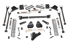 """2017-2019 Ford F-250 Super Duty 4WD 6"""" 4-Link Lift Kit w/ V2 Shocks - Rough Country 56071"""