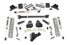"""2017-2019 Ford F-250 Super Duty 4WD 4.5"""" Lift Kit w/ V2 Shocks - Rough Country 50671"""