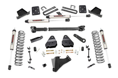 """2017-2019 Ford F-250 Super Duty 4WD 6"""" Lift Kit w/ V2 Shocks - Rough Country 50371"""