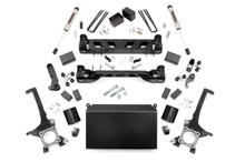 "2007-2015 Toyota Tundra 2WD/4WD 4.5"" Lift Kit w/ V2 Shocks - Rough Country 75370"