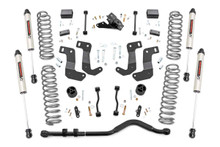 """2018-2020 Jeep Wrangler JL Unlimited 4WD 3.5"""" Lift Kit w/ V2 Shocks - Rough Country 66870"""