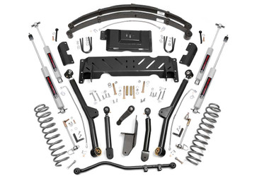 """1984-2001 Jeep Cherokee XJ 4WD 4.5"""" Lift Kit - Rough Country 61722"""