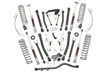 """2007-2010 Jeep Wrangler JK Unlimited 2WD 6"""" Lift Kit - Rough Country 68322"""