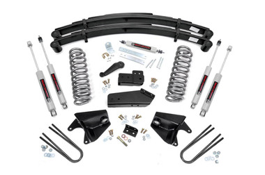 """1980-1996 Ford F-150 4WD 4"""" Lift Kit - Rough Country 52030"""