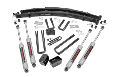 """1977-1993 Dodge W150 Pickup 4WD 4"""" Lift Kit - Rough Country 310.2"""