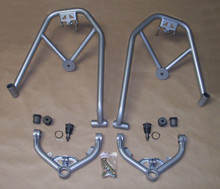 1999-06 GM 1/2 Ton Truck-SUV (2WD/4WD) Double Shock Hoop,Up A-Frames w/ bush & ball joints (silver powder-coat)