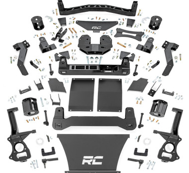 """2021-2022 Chevy Tahoe W/O Adaptive Ride Control 6"""" Suspension Lift Kit - Rough Country 11100BOX2"""