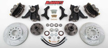 "1963-1970 Chevrolet C-10 13"" Front Cross Drilled Disc Brake Kit & 2.5"" Drop Spindles; 6x5.5 Bolt Pattern - Part# 63311"