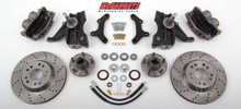 "1973-1987 Chevrolet C-10 Front 13"" Cross Drilled Disc Brake Kit W/Drop Spindles; 5x4.75 Bolt Pattern - McGaughys 33160"