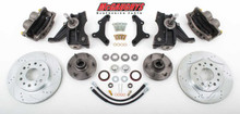 "1973-1987 Chevrolet C-10 Front 13"" Cross Drilled Disc Brake Kit W/Drop Spindles; 6x5.5 Bolt Pattern - McGaughys 33301"