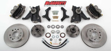 "1973-1987 Chevrolet C-10 Front 13"" Disc Brake Kit W/Drop Spindles; 6x5.5 Bolt Pattern - McGaughys 33300"