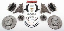 "McGaughys Chevrolet Camaro 1970-1978 13"" Front Cross Drilled Disc Brake Kit & 2"" Drop Spindles; 5x4.75 Bolt Pattern - Part# 64078"