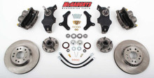 "McGaughys Chevrolet Fullsize Car 1955-1957 13"" Front Disc Brake Kit & 2"" Drop Spindles; 5x4.75 Bolt Pattern - Part# 63257"