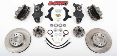 "McGaughys Chevrolet Fullsize Car 1958-1964 13"" Front Disc Brake Kit & 2"" Drop Spindles; 5x4.75 Bolt Pattern - Part# 63259"