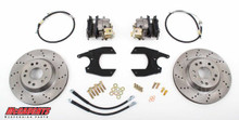 "GM Fullsize Car 10 or 12 Bolt Rear End - 13"" Rear Cross Drilled Disc Brake Kit; 5x4.75 Bolt Pattern - McGaughys 64099"