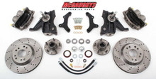 "1963-1970 GMC C-10 13"" Front Cross Drilled Disc Brake Kit & 2.5"" Drop Spindles; 5x4.75 Bolt Pattern - McGaughys 63150"