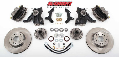 "1963-1970 GMC C-10 13"" Front Disc Brake Kit & 2.5"" Drop Spindles; 5x4.75 Bolt Pattern - McGaughys 63149"