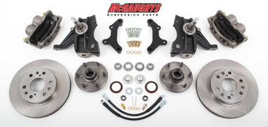 "1963-1970 GMC C-10 13"" Front Disc Brake Kit & 2.5"" Drop Spindles; 6x5.5 Bolt Pattern - McGaughys 63310"