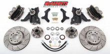 "1971-1972 GMC C-10 13"" Front Cross Drilled Disc Brake Kit & 2.5"" Drop Spindles; 5x4.75 Bolt Pattern - McGaughys 63154"