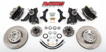 "1971-1972 GMC C-10 13"" Front Disc Brake Kit & 2.5"" Drop Spindles; 5x5 Bolt Pattern - McGaughys 63153"