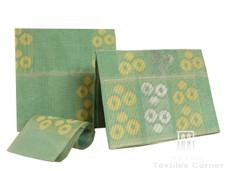 Aso-Oke A070 Mint Green/Creme/Silver