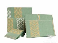 Aso-Oke A142 Mint Green/Creme/Silver