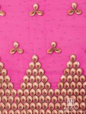 Lace H609 Fuchsia Pink/Gold