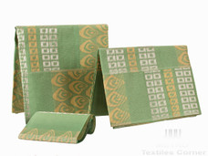 Aso-Oke A148 Mint Green/Creme/Silver