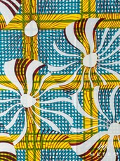Embellished Vlisco Dutch Wax LTDEW040 Cotton Satin