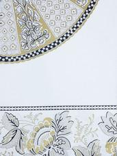 Vlisco Java Prints J402 with Gold Embellishment
