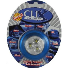 Vision X HIL-CLIXB Clix Blue Battery Powered LED 3-Pod Light
