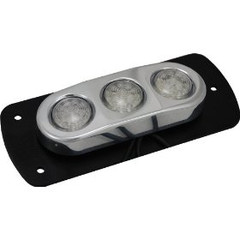 Vision X HIL-DLF3B Blue LED 3-Pod Light with Billet Aluminum Flat Mount