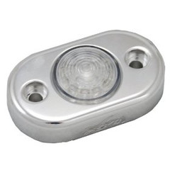 Vision X HIL-DLFA Amber LED Pod Light with Billet Aluminum Flat Mount
