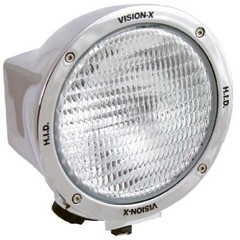 Vision X HID-6551C 50 Watt HID Flood Beam Lamp CHROME