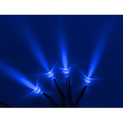 Vision X HIL-SLB Blue Single LED With 3 Foot Cord - Pack of 4