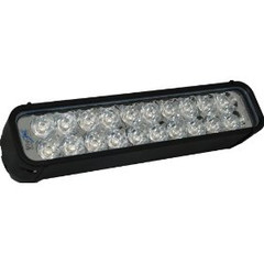 "12"" Xmitter Euro Beam LED Light Bar With 20 3 watt LEDs Black Finish"