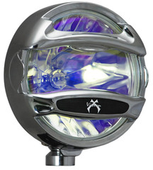 "Vision X VX-8010c 8"" halogen spot beam off-road light with optional chrome rock guard (included)"