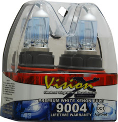 45/65 Watt Hi/Low Beam DOT Approved Superwhite Bulb Set - Vision X VX-D9004 4001527