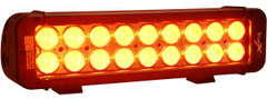 "Vision X 11"" Amber Xmitter Prime LED Light Bar Eighteen 3-Watt LED's 10° Narrow Beam"