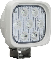 "White 4"" Square Utility Market Xtreme LED Work Light 10 Degree Vision X XIL-UMX4410W"