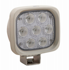 "WHITE HOUSING, WHITE LED XIL-UM4440W 4"" Square 40° BEAM LED Work Light by Vision X."