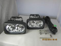 BLACK OPTIMUS LED LIGHT KIT. TWO LIGHTS AND INSTALL KIT. XIL-OP210KIT