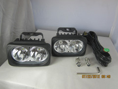 CHROME OPTIMUS LED LIGHT KIT. TWO LIGHTS AND INSTALL KIT - Vision X XIL-OP210CKIT 9131535